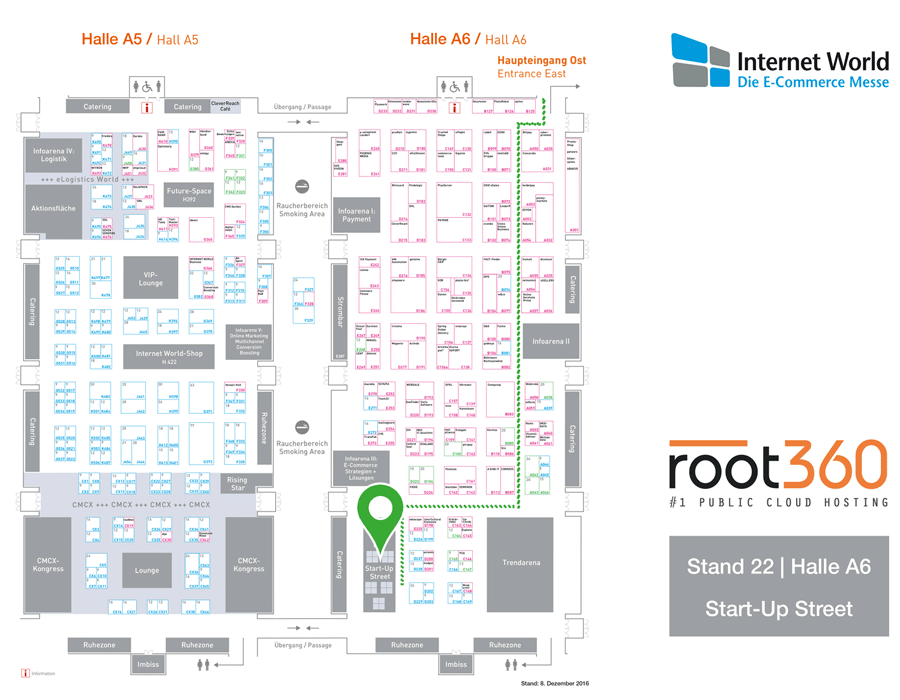 Standplan root360 auf der Internet World 2017