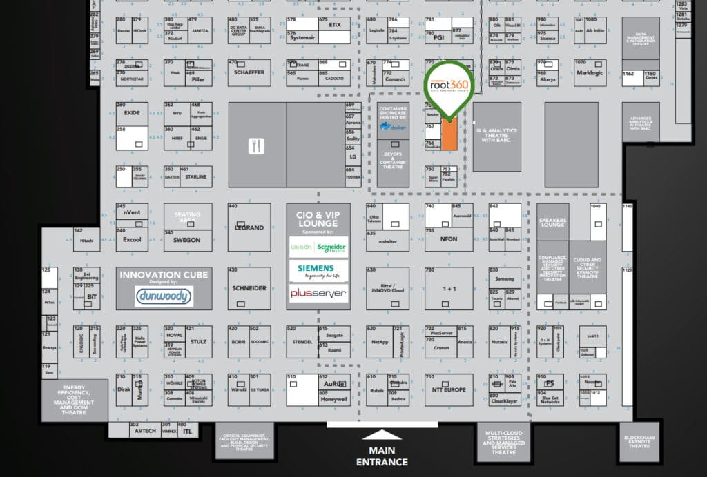 Hallenplan Cloud Expo